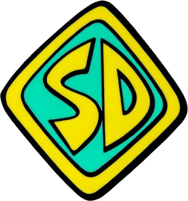 """Scooby Doo - Scooby """"SD"""" Dogtag Enamel Pin"""