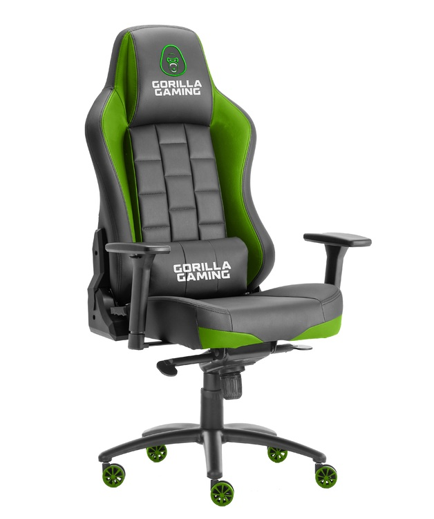 Gorilla Gaming Alpha Prime Chair - Black & Green for