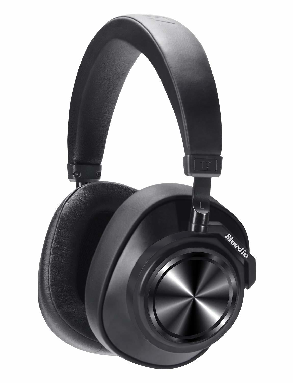 Bluedio T7 Bluetooth Custom Active Noise Canceling Over-Ear Headphones - Black image