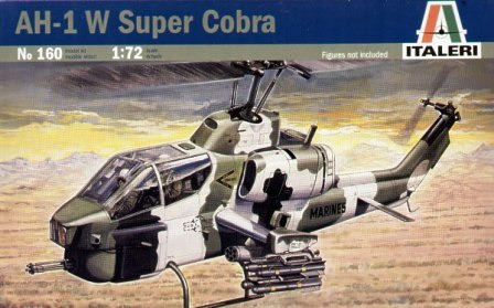 Italeri AH1W Super Cobra Helicopter 1:72 Model Kit
