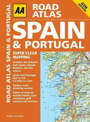 AA Road Atlas Spain and Portugal by AA Publishing image