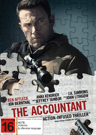The Accountant on DVD image