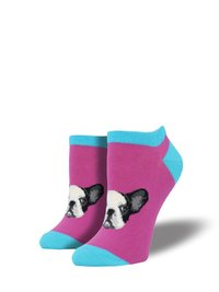 Womens - Boysenberry Frenchie Connection Ankle Socks