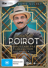 Poirot: Early Case File Collection S1-S8 on DVD