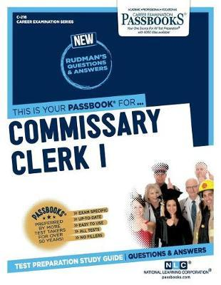 Commissary Clerk I by National Learning Corporation