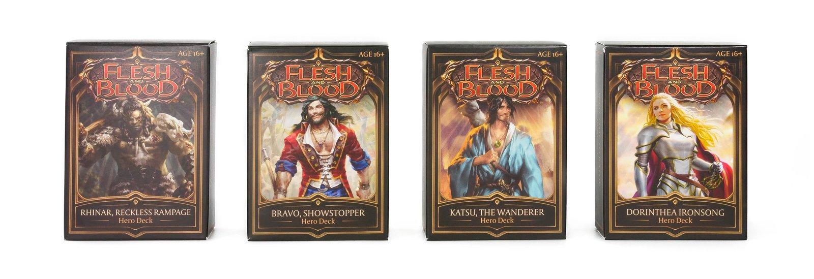 Bravo Flesh /& Blood TCG Sealed Hero Deck