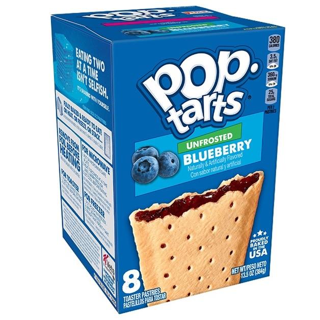 Kellogg's Pop Tarts Unfrosted Blueberry 8pk