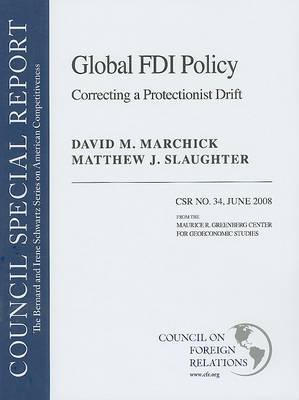 Global FDI Policy by Matthew J. Slaughter image