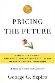 Pricing the Future by George G Szpiro image