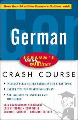 Schaum's Easy Outline of German by Elke Gschossmann-Hendershot image