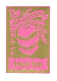 Archivist - Bananas About You Foil Greeting Card