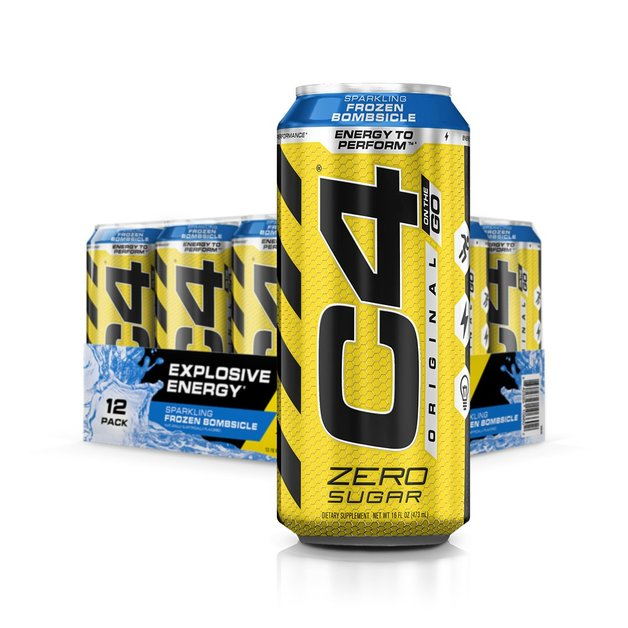 Cellucor: C4 Carbonated On-The-Go RTD - Frozen Bombsicle (473ml)