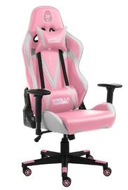Gorilla Gaming Commander Elite Chair - Pink & White for