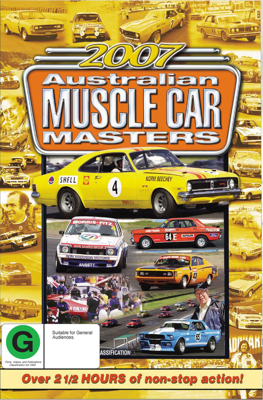 Highlights of the 2007 Australian Muscle Car Masters on DVD