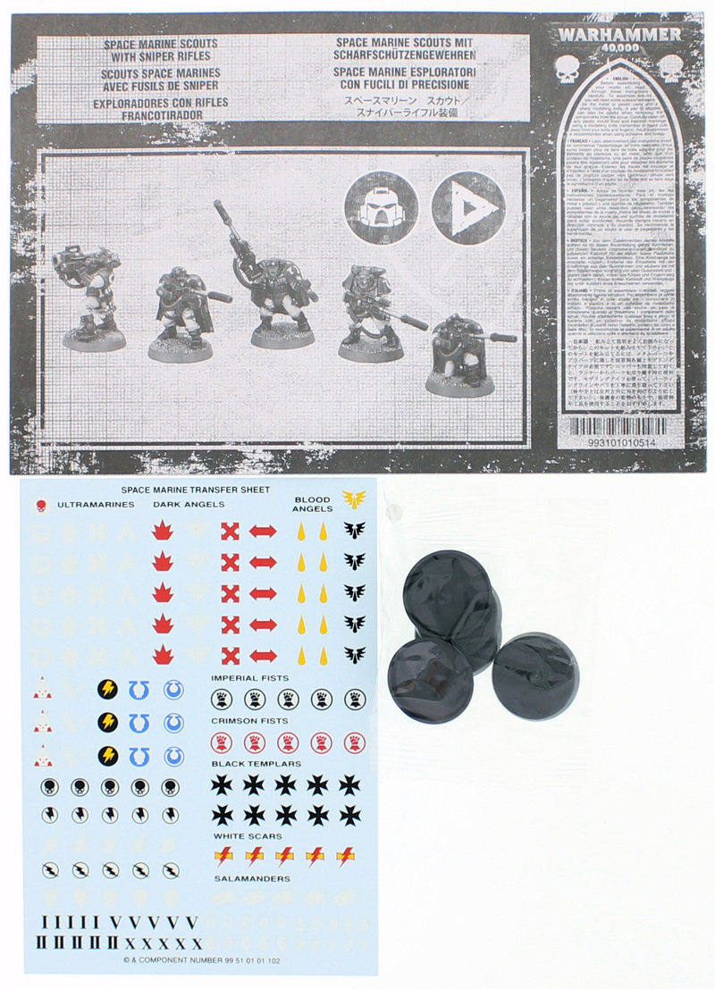 Warhammer 40,000 Space Marine Scouts with Sniper Rifles image