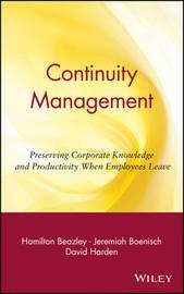 Continuity Management by Hamilton Beazley image