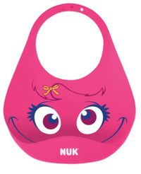 NUK: Flex Silicone Bib - Pink