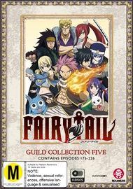 Fairy Tail Guild - Collection 5 (Eps 176-226) on DVD