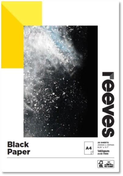 Reeves Black Sketch Pad A4