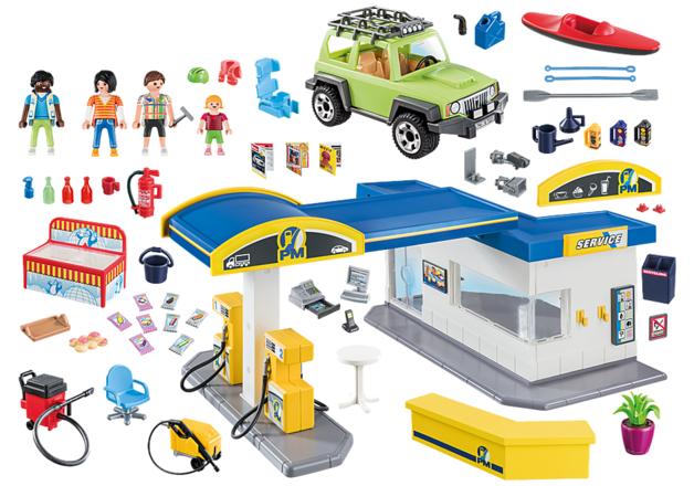 Playmobil: City Life - Gas Station Playset (70201)