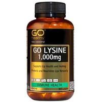 Go Healthy: GO Lysine 1000mg (60 Capsules)