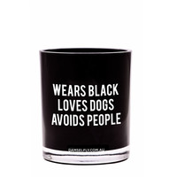 Wears Black, Avoids People Candle (Large, Black)