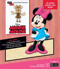 Incredibuilds: Walt Disney: Minnie Mouse 3D Wood Model and Book by Eden Greenberg