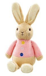 """Peter Rabbit: Flopsy """"Made With Love"""" - Knitted Plush"""