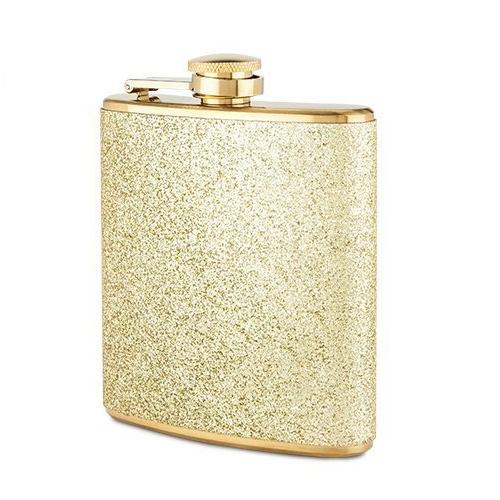 Blush: Sparkletini - Stainless Steel Flask (Gold)