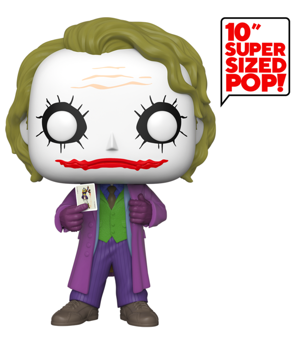 "Batman: Joker (Dark Knight) - 10"" Super Sized Pop! Vinyl Figure"
