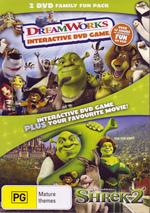 DreamWorks Interactive DVD Game / Shrek 2 - 2 DVD Family Fun Pack (2 Disc Set) on DVD