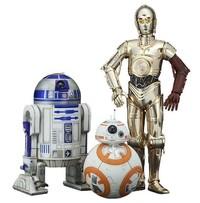 Star Wars: 1/10 Artfx+: R2-D2 & C-3PO with BB-8