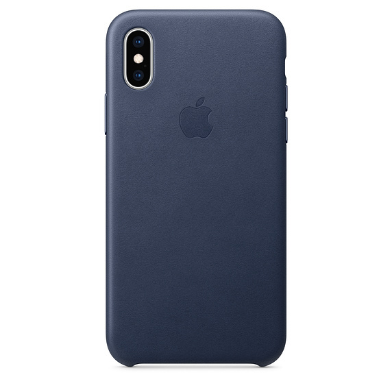 Apple: iPhone XS Leather Case - Midnight Blue