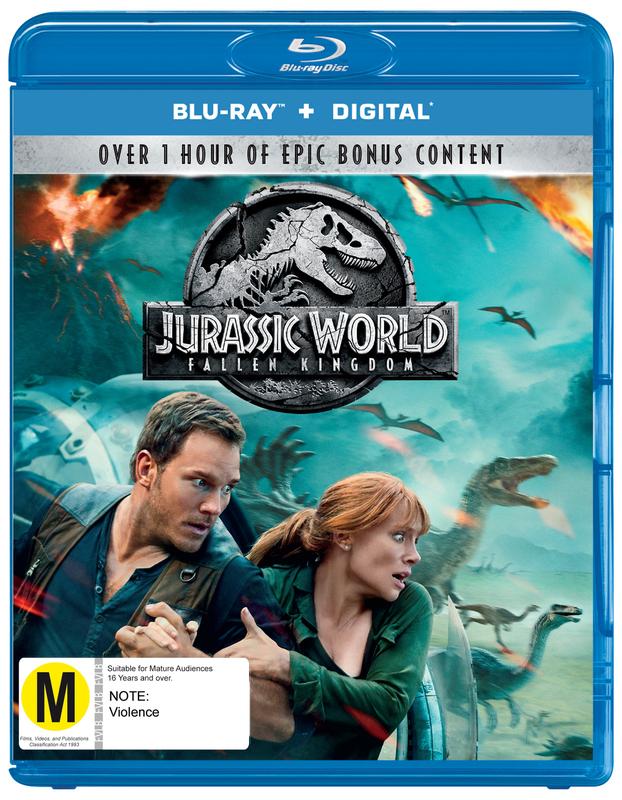 Jurassic World: Fallen Kingdom on Blu-ray, DC