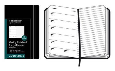 2011 Moleskine Pocket Weekly Notebook 18 Months Hard by Moleskine image