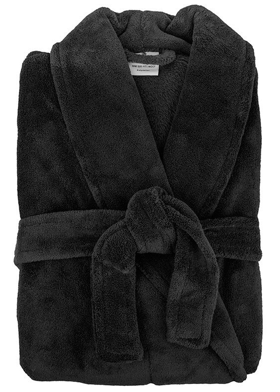 Bambury: Retreat Microplush Robe - Black M/L