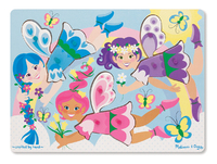 Melissa & Doug: Dress-Up Faries Peg Puzzle - 9 Pieces
