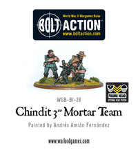 "British Forces: Chindits - 3"" Mortar Team"