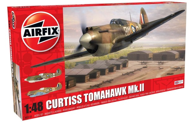 Airfix 1:48 Curtiss Tomahawk MKII Model Kit