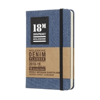 Moleskine: 2019 Pocket Denim Collection 18-Month Weekly Notebook Planner (July 2018 to December 2019)