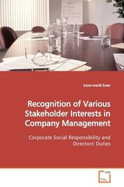Recognition of Various Stakeholder Interests in Company Management by Irene-marie Esser image