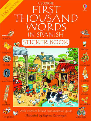 First 1000 Words in Spanish Sticker Book by Heather Amery image