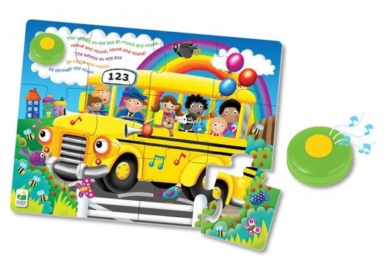 My First Sing Along Puzzle - Wheels on the Bus image