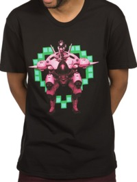 Overwatch D.Va Play to Win T-Shirt (X-Large)