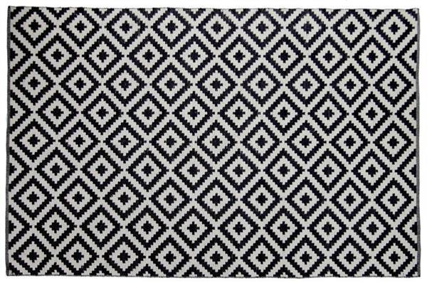 Blackwhite Diamond Pattern Cotton Rug Extra Large At Mighty Ape Nz