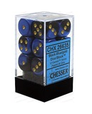 Chessex Gemini 16mm D6 Dice Block: Black-Blue/Gold