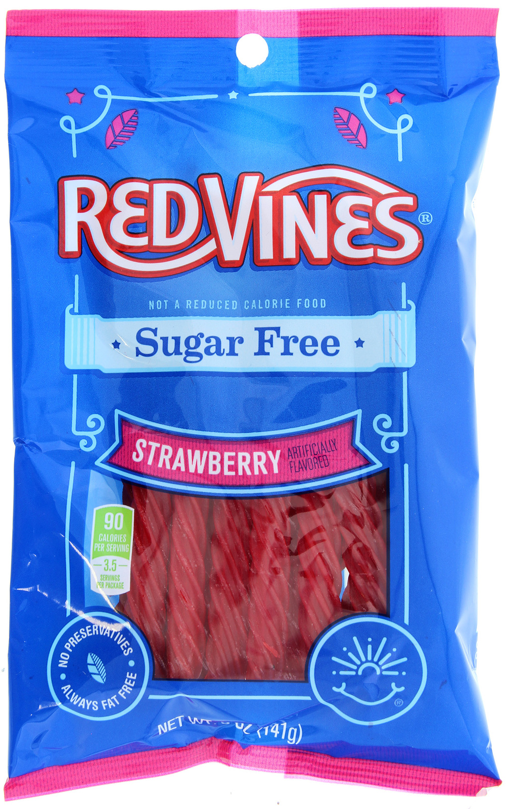 Red Vines Sugar Free Strawberry Twists (142gms) image