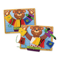 Melissa & Doug: Wooden Basic Skills Board