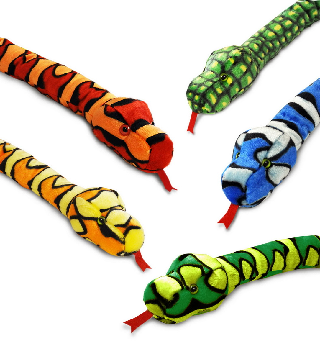 Keel Toys: Colourful Snake Plush - Assorted Designs image