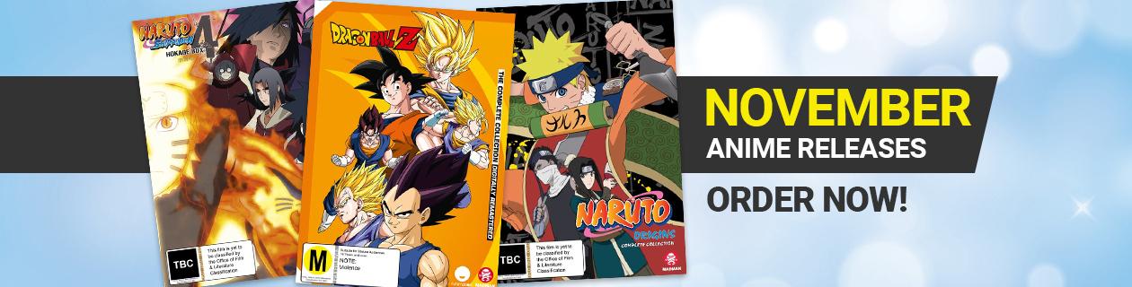 New Anime Releases for November!